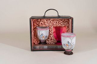 Pair of Chinese Porcelain Tea Bowls