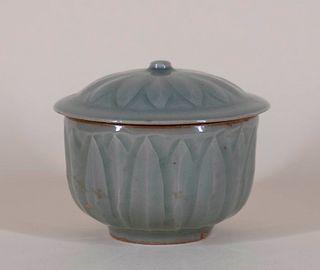 Longquan Celadon Covered Pot