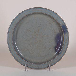 Purple-Splashed Jun Ware Dish