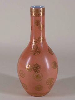 Salmon 'flowerball' Porcelain Bottle Vase