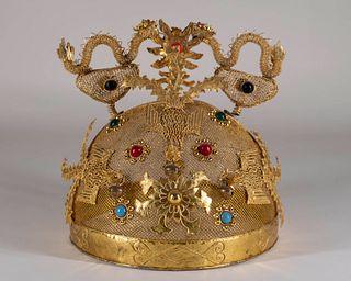 Chinese Opera Theater Dragon Headdress