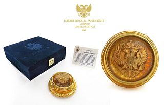 FABERGE IMPERIAL LIMITED EDITION PAPERWEIGHT - SIGNED