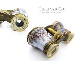 19TH C. TIFFANY & CO. ROCK CRYSTAL OPERA ENAMEL GLASSES