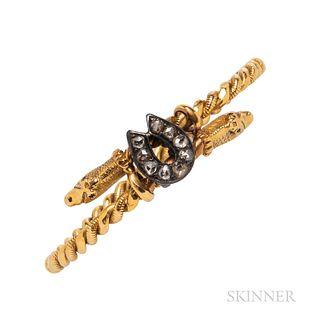 Gold Bypass Bracelet