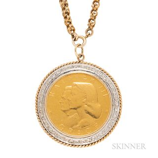 Gold Medal of Prince Rainier III and Grace Kelly