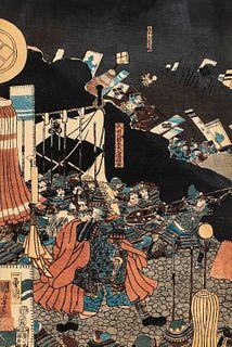 Utagawa Kuniyoshi (1798-1861), Four Woodblock Prints