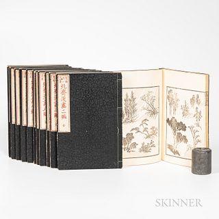 Complete Set of Katsushika Hokusai (1760-1849) Manga Series