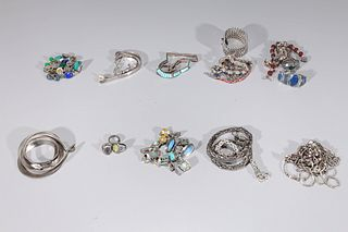 Large Group of Sterling Silver Jewelry