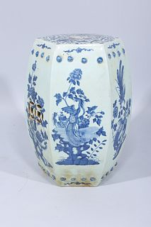 Chinese Blue & White Porcelain Garden Seat