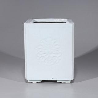Chinese White Glazed Porcelain Planter