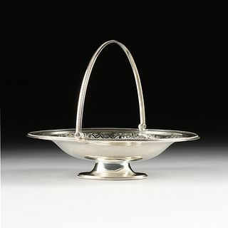 A VICTORIAN SILVER PLATED SWEETS BASKET, STAMPED, POSSIBLY SHEFFIELD, 1870s,