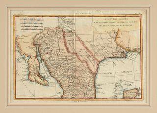 """AN ANTIQUE MAP OF TEXAS, """"Le Nouveau Mexique avec la partie Septentrionale de L'Ancien ou de la Nouvelle Espagne,"""" PARIS, 1780,"""