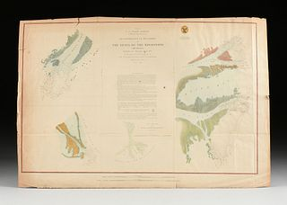 A GROUP OF THREE ANTEBELLUM AND CIVIL WAR ERA MAPS AND ILLUSTRATION, MISSISSIPPI RIVER DELTA AND NEW ORLEANS LAKES, 1852-1862,