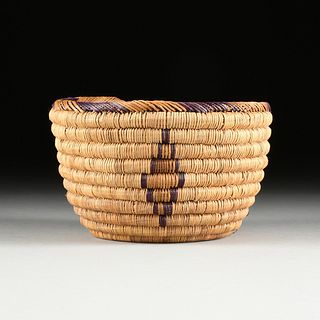 A PANAMINT / SHOSHONE INDIGENOUS DEATH VALLEY COILED BASKET, CALIFORNIA, 20TH CENTURY,