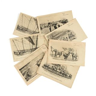 A GROUP OF 138  ANTIQUE AND VINTAGE CIRCUS/SIDESHOW POSTCARDS AND RELATED EPHEMERA, CIRCA 1880s-1980s,