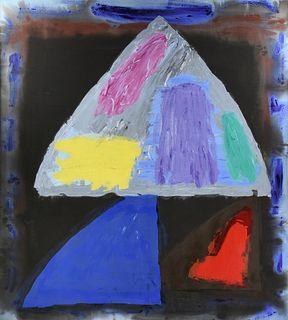 "JOHN HOYLAND (British 1934-2011) A PAINTING, ""Master of Revels,"" JUNE 8, 1982,"