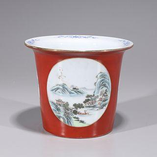 Chinese Enameled Porcelain Planter