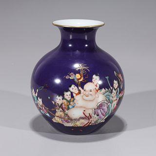 Chinese Qianlong-Style Porcelain Vase