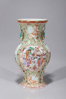 Chinese Enameled Export Porcelain Vase