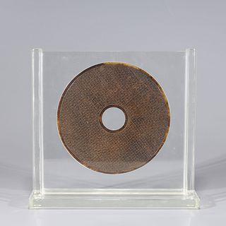 Chinese Archasitic Hardstone Bi