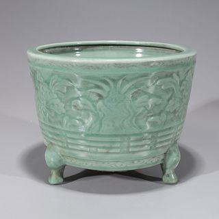Chinese Ming Style Celadon Tripod Censer