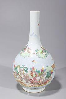 Chinese Famille Rose Enameled Porcelain Vase