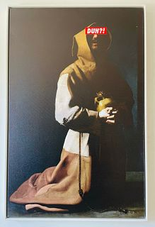 Contemporary Francis of Assisi Glicee, 1/10 Signed