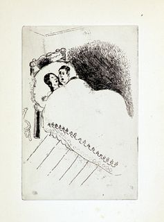 Marc Chagall - Couple in Bed