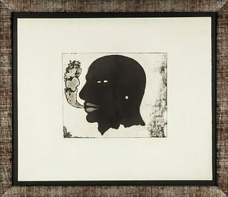 """JAUME PLENSA (Barcelona, 1955). """"Untitled"""". Carborundum engraving copy 16/75. Signed and justified by him."""