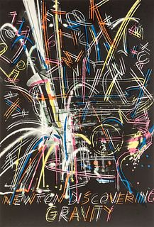 """DENNIS OPPENHEIM (Washington, 1938 - New York, 2011). Untitled, 1992, from the series """"Olympic Suite"""". Lithograph on 270 gram Vélin d'Arches paper, co"""