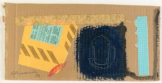 ALBERT RÀFOLS CASAMADA (Barcelona, 1923 - 2009). Untitled, 1993. Gouache and collage on cardboard. Signed and dated in the lower left corner. With Joa