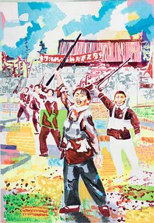 """JORGE CANO (Madrid, 1973). """"Peking, 1955"""", 2006. Acrylic on canvas. Signed, dated and titled on the back."""