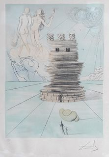 """SALVADOR DALÍ I DOMÈNECH (Figueras, Girona, 1904 - 1989). """"Twelve tribes of Israel"""", 1973. Etching on Arches paper, copy 192/195. Signed and numbered"""