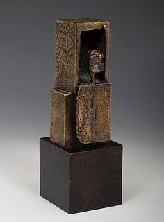 "ANTONI CLAVÉ I SANMARTÍ (Barcelona, 1913 - Saint Tropez, France, 2005). ""Le guettur"", 1962. Patinated bronze, copy E.A. Signed and justified on the ri"