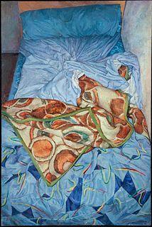 """RICARDO GONZÁLEZ GARCÍA (Santander , 1976) """"Unmade bed"""" 1999 Oil on canvas"""