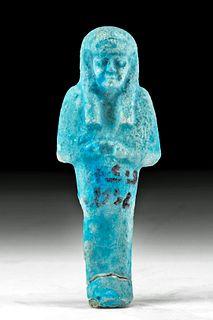 Egyptian Glazed Faience Ushabti for Pakhenem