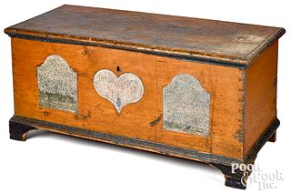 Pennsylvania painted pine dower chest, dated 1808
