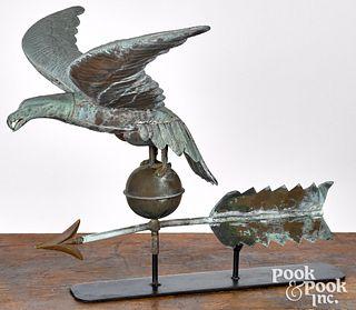 Copper eagle weathervane, 19th c.