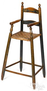 Painted New England ladderback high chair