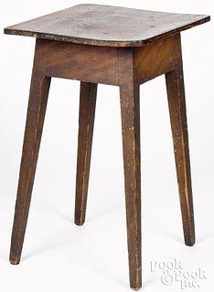 Pennsylvania painted pine splay leg stand, 19th c.