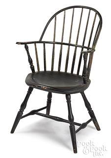 New England sackback Windsor chair, ca. 1795