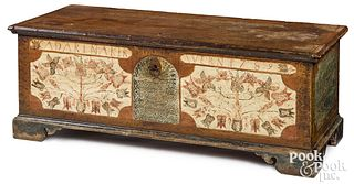 Pennsylvania painted dower chest, dated 1789