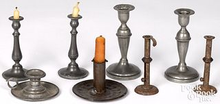 Group of miniature candlesticks, 19th and 20th c.