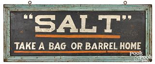 Painted pine double sided Salt trade sign
