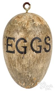 Painted Eggs country store trade sign