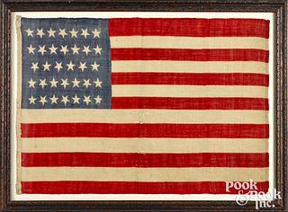 Civil War era thirty-four star American flag