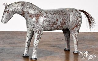 Pennsylvania carved and painted folk art horse
