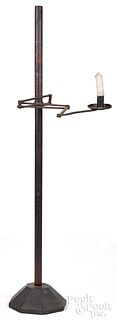 Wrought iron and pine adjustable weaver's lamp