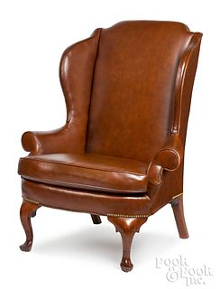 The Taylor Family Queen Anne mahogany easy chair