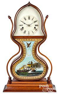 New England rosewood acorn clock, ca. 1845